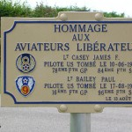 Saint-Georges-d'Annebecq, plaque aviateurs US Air Force