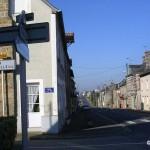 Saint-Georges-de-Rouelley, la rue principale vers Barenton