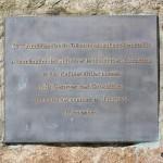Saint-Georges-des-Groseillers, plaque du 60e anniversaire