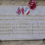 Saint-Vaast-en-Auge, plaque parachutistes 6th Airborne Division