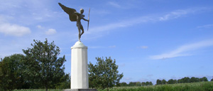 Tierceville, monument lettrine