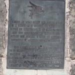 Bénouville, stèle Horsa Lieutenant Smith