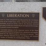 Caumont-l'Eventé, monument 1st Infantry Division