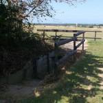 Colleville-Montgomery, site Hillman pont bétonné