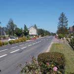 Hottot-les-Bagues, la D9 vers Caen