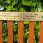 Ranville, Mémorial Pegasus, plaque The Oxfordshire and Buckinghamshire Light Infantry