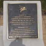 Ranville, Mémorial Pegasus, stèle Lieutenant Brotheridge