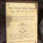 Saint-Aubin-d'Arquenay, stèle 1st Special Service Brigade