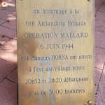 Saint-Aubin-d'Arquenay, stèle 6th Airlanding Brigade