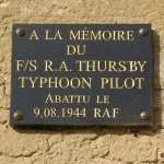 Mittois, plaque Flight Sergeant R. A. Thursby