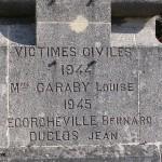 Crevecoeur-en-Auge, plaque victimes civiles
