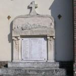 Le Mesnil-Simon, plaque soldats alliés
