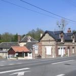 Danestal, la route nationale Caen Pont-l'Evêque