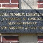 Danestal, plaque 6th Airborne Division