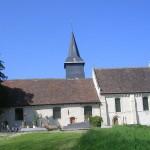 Douville-en-Auge, l'église Saint-Blaise du XIIe siècle