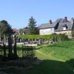 Douville-en-Auge, le cimetière de l'église