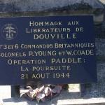 Douville-en-Auge, plaque N°3 et 6 Commandos