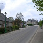 L'Etang-Bertrand, la D126 vers Bricquebec