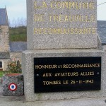 Tréauville, plaque Royal Air Force