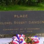 Amfreville, stèle Colonel Robert Dawson