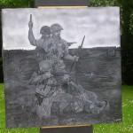 Carentan, Mémorial Cole's bayonet charge