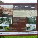 Mont-Ormel, Panneau circuit août 44