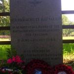 Troarn Bures-sur-Dives, stèle 8th Parachute Battalion