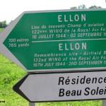 Ellon, le panneau de l'aérodrome B12