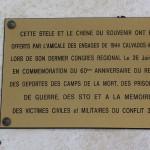 Le Molay-Littry, stèle du 60e anniversaire