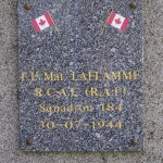 Ondefontaine, plaque Lieutenant Laflamme