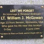 Moon-sur-Elle, stèle Lieutenant William McGowan