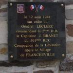 Francheville, plaque 501e RCC