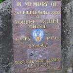 Montmerrei, stèle 2nd Lieutenant Robert Rubel