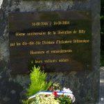 Billy, plaque 60e anniversaire de la Libération
