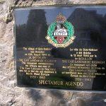 Cesny-Bois-Halbout, stèle 1st Battalion The East Lancashire Regiment