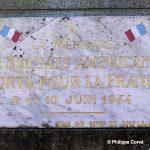 Magneville, plaque soldats américains