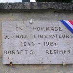 Loucelles, plaque 1st Dorsets