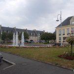 Aunay-sur-Odon, la place de l'Hôtel de ville