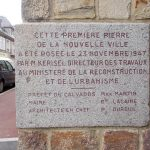 Aunay-sur-Odon, plaque de la reconstruction
