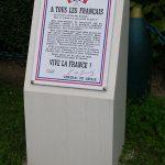 Bretteville-sur-Odon, stèle Appel du 18 juin 1940