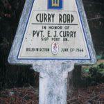 Brucheville, stèle Curry Road