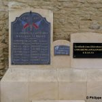Cauvicourt, plaque soldats canadiens et polonais