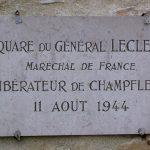 Champfleur, plaque général Leclerc