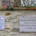 Champfleur, plaque général Leclerc et Appel du 18 juin 1940
