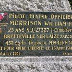 Commeaux, plaque Flying Officer Morrison