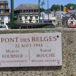 Deauville, plaque pont des Belges