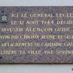 Saint-Paterne, plaque de la Libération