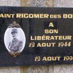 Saintrigomer-des-Bois, plaque général Leclerc