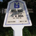 Saint-Martin-de-Varreville, panneau W. Begel