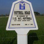 Saint-Martin-de-Varreville, panneau W. T. Fottrell